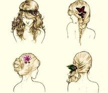 Inspiring picture awesome, beautiful, blonde, flower, braids, girl, curls, curly hair, pretty.