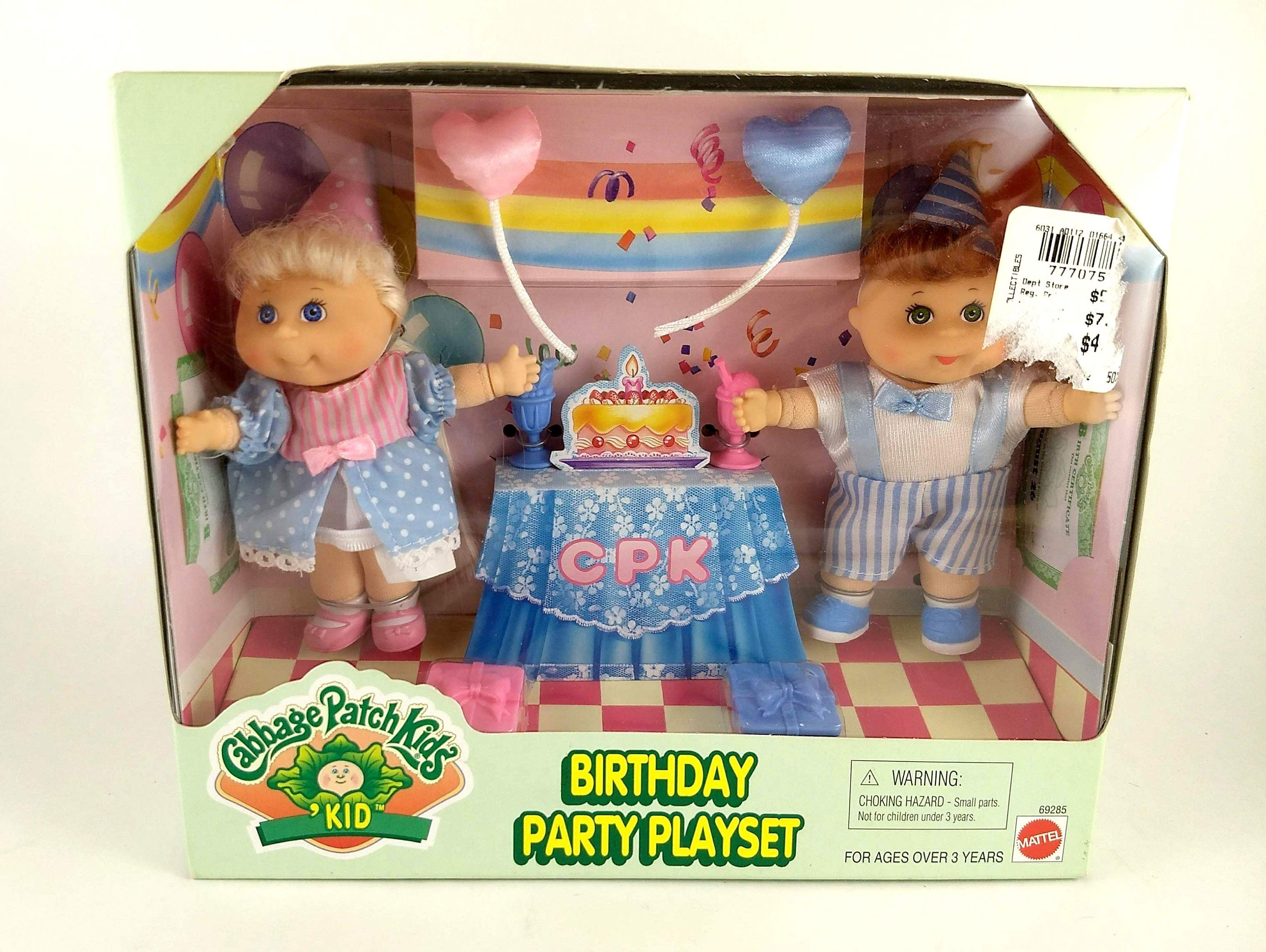 Sale 1997 Cabbage Patch Kids Birthday Party Playset Vintage Etsy Patch Kids Cabbage Patch Kids Cabbage Patch Babies