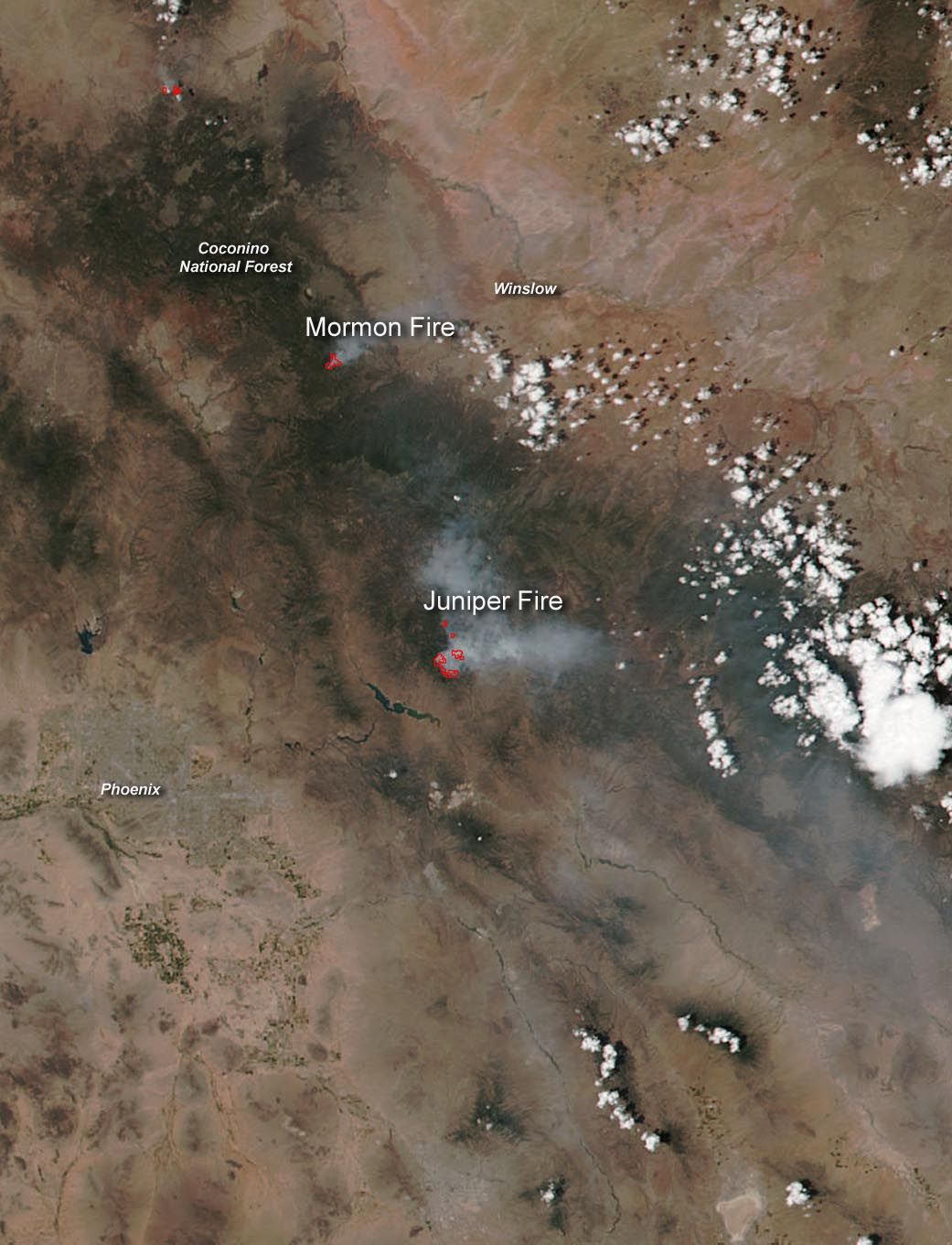 Wildfires in Arizona Still Burning Arizona, Weather