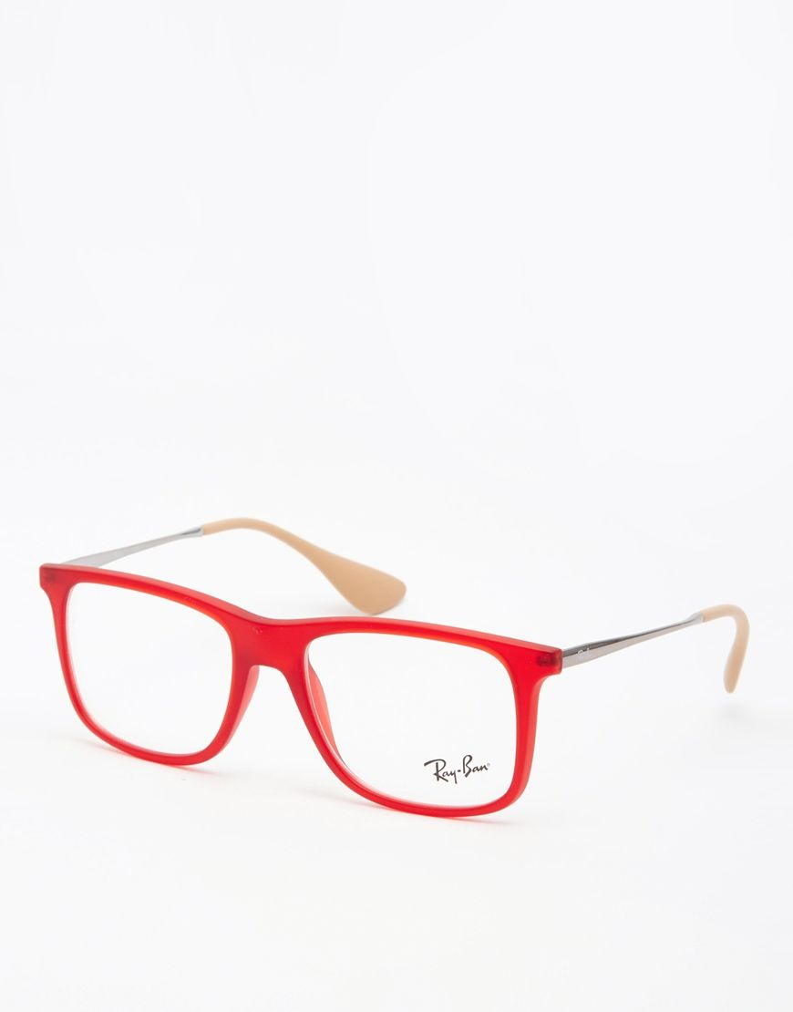 Ray-Ban Oversized D Frame Glasses | Accessories | Pinterest