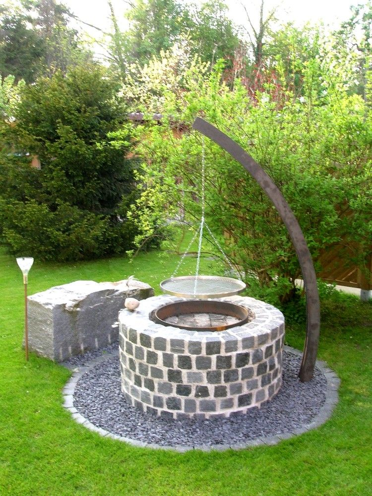 Barbecue En Pierre Barbecues Pinterest Jardín Ideas Para El - Barbecue de jardin en pierre