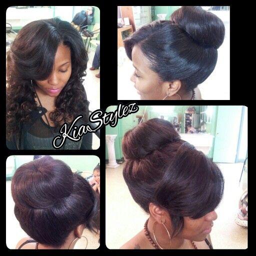 Sew In And Curls Same Sew In In A Bun Kiastylez Styles