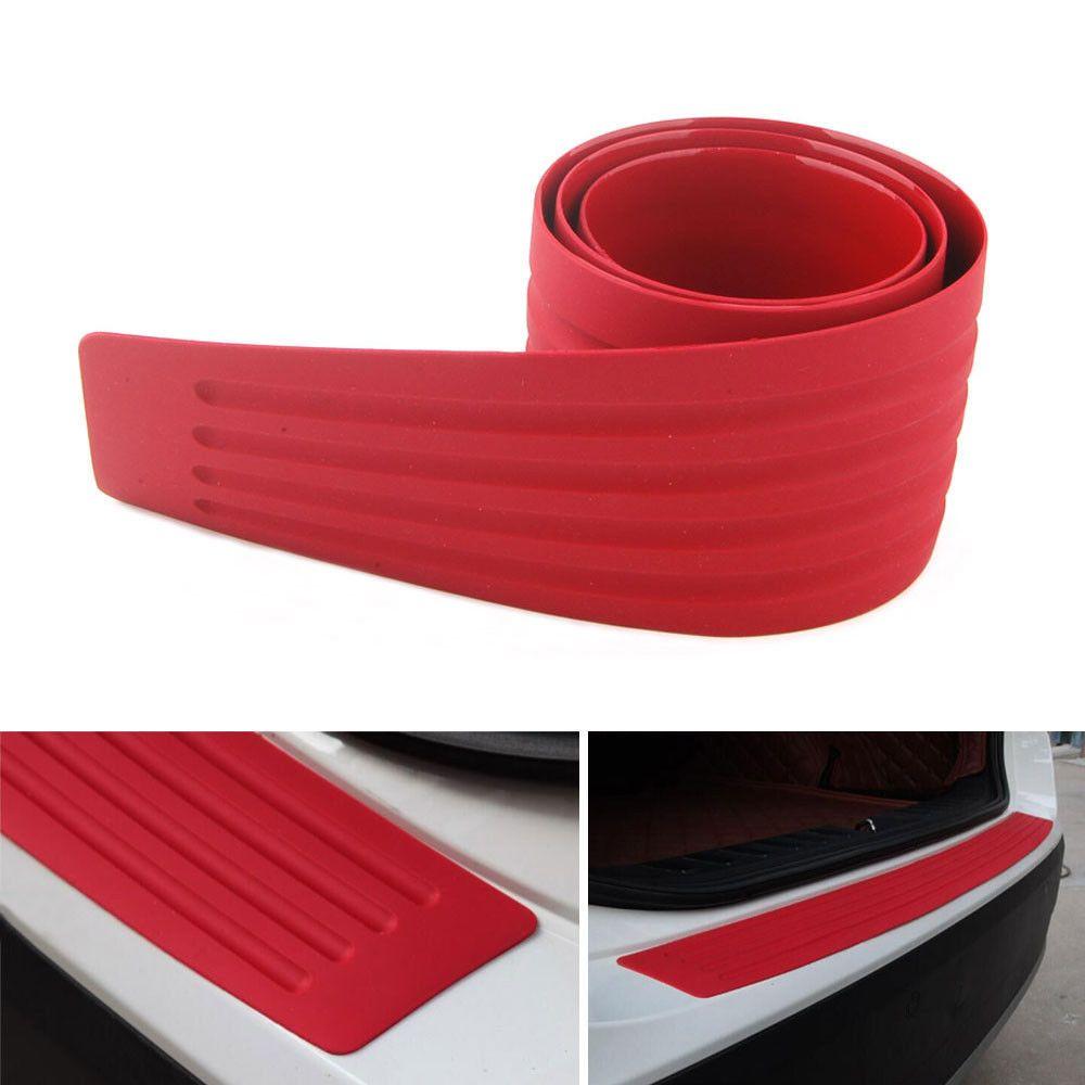 "Red 35"" Rubber Door Rear Guard Car SUV Body Bumper"