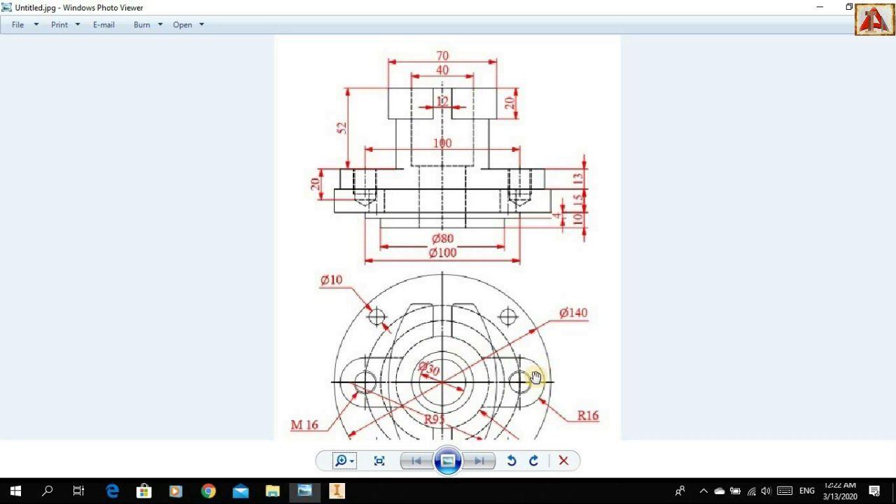 رسم المنظور الهندسي من خلال مسقطين برنامج الانفينتور 3d Modelling I Periodic Table Diagram Art