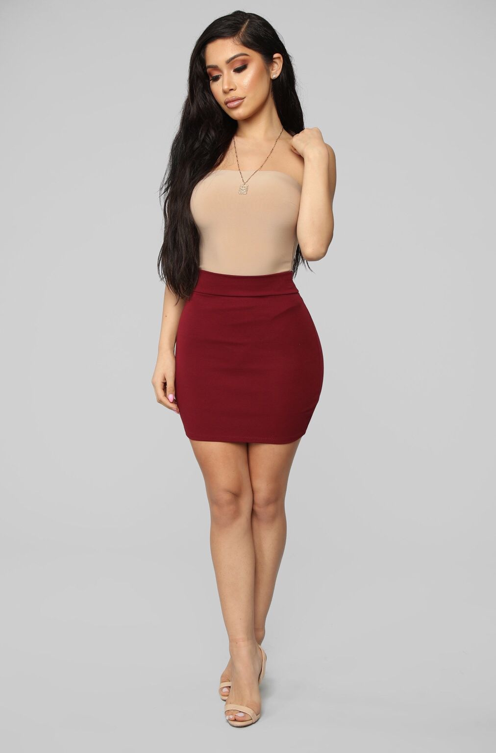 53bc91e4e Melanie Ponte Mini Skirt - Wine in 2019 | Fashion Nova | Mini skirts ...
