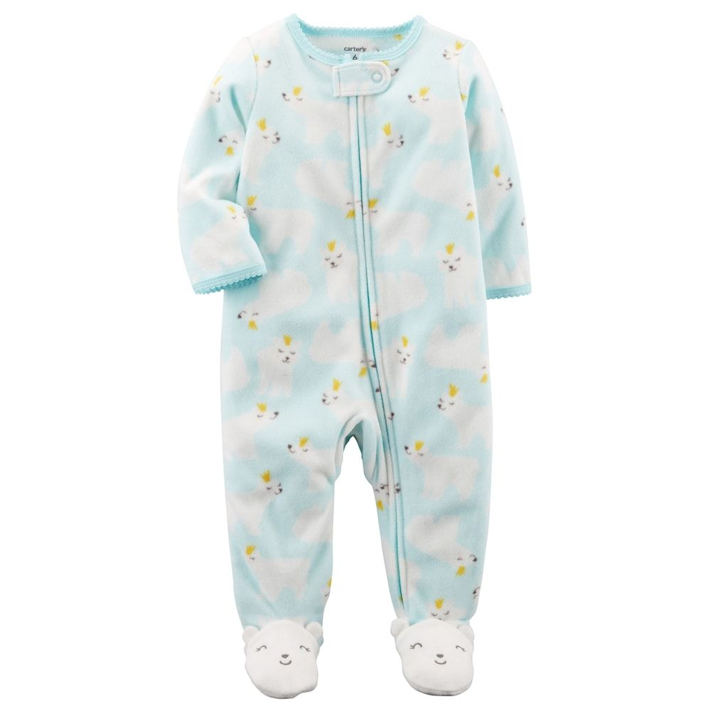 500fc992d Baby Girl Carter s Polar Bear One-Piece Footed Pajamas