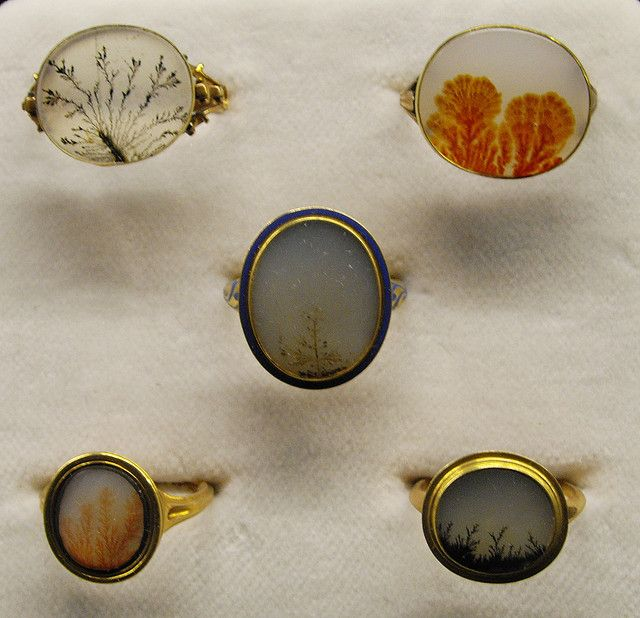 moss agate rings/tiny landscapes. #accessories.