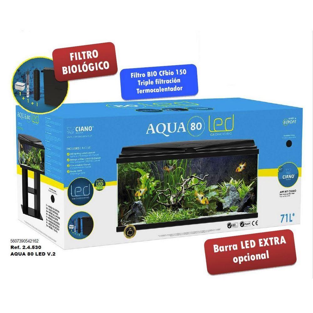 Acuario Ciano Aqua 80 Light LED negro *NUEVO*