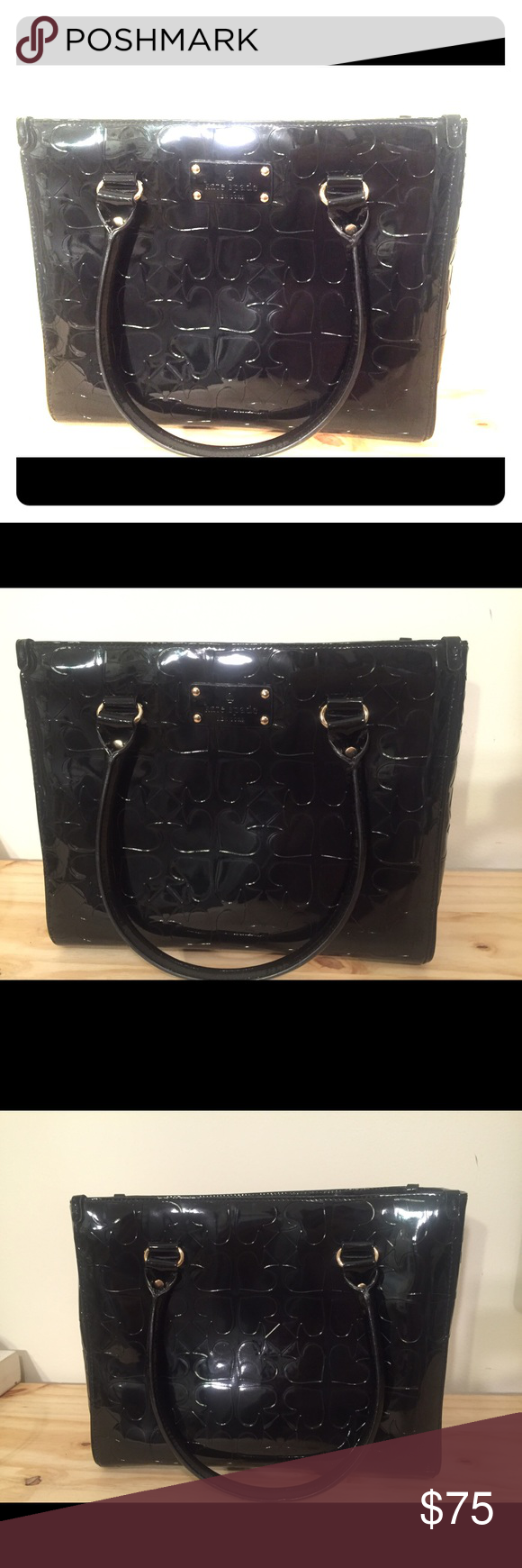 Kate Spade Patent Leather Bag Gorgeous Black Very Ious