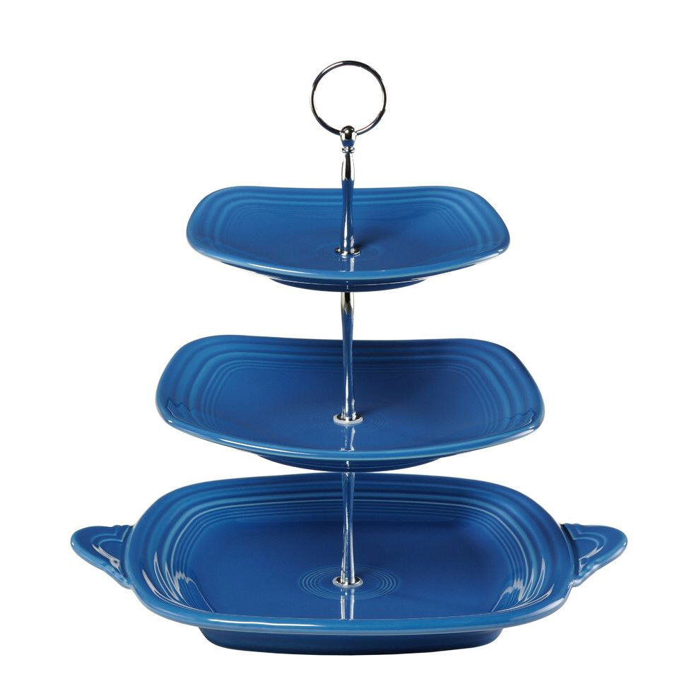 3 Tier Serving Stand  sc 1 st  Pinterest & 3 Tier Serving Stand | Fourth of July | Pinterest | Fiesta ware ...
