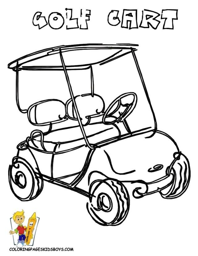 Golf. Coloring Page - Free Golf Coloring Pages : ColoringPages101.com | 828x640