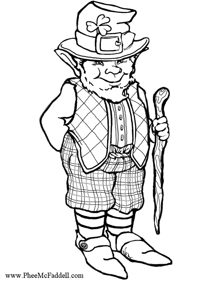 Leprechaun Coloring And Craft Project Www Pheemcfaddell Com Coloring Pages Leprechaun Color