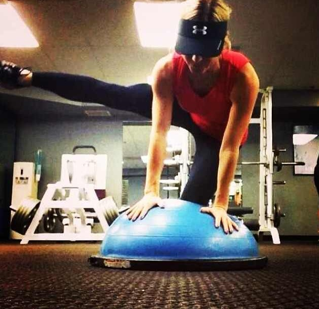 Balance Ball Legs: Fire Hydrant Leg Lifts With The BOSU For Extra Stability
