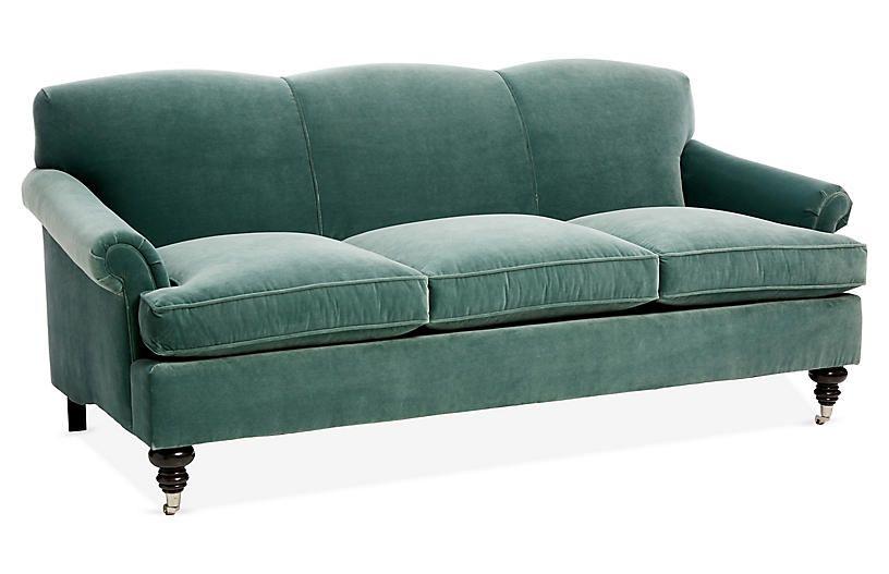 Joplin Sofa Jade Velvet Sofa Furniture Best Sofa