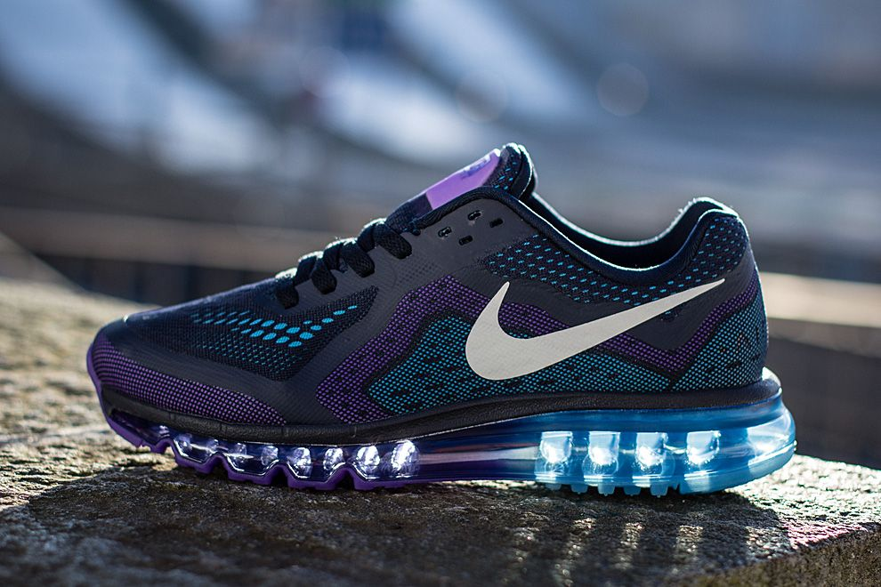 Nike Air Max 2014 Obsidian Purple Venom Vivid Blue