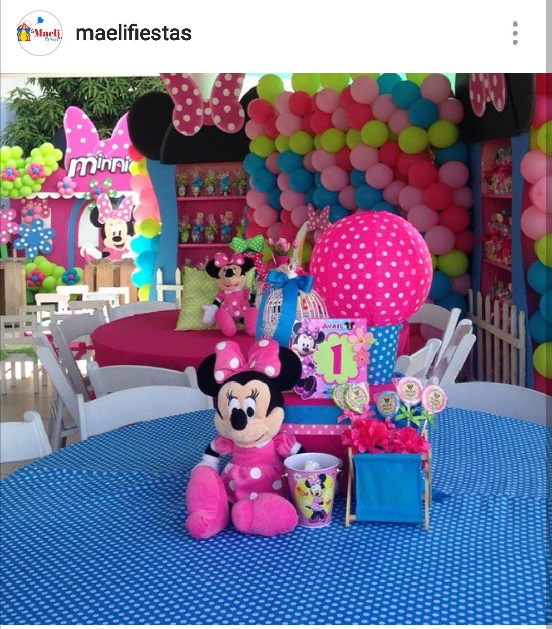 Minnie Mouse Birthday Party Table Setting and Decor | Minnie mouse ...