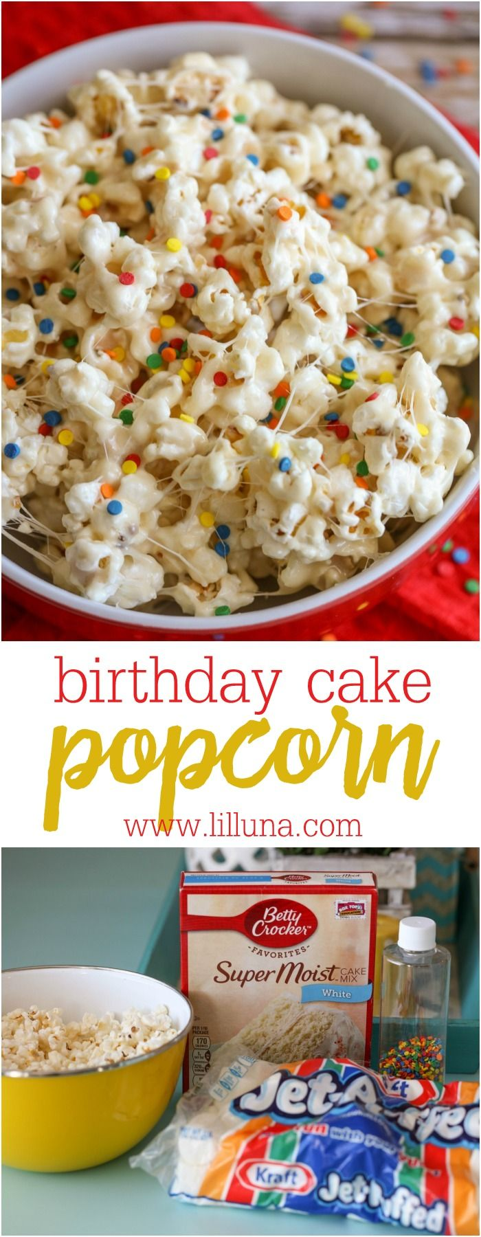 Super Birthday Cake Popcorn Recipe With Images Gooey Treats Yummy Funny Birthday Cards Online Fluifree Goldxyz