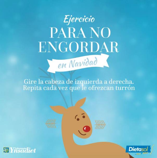 Os recordamos el mejor ejercicio para no engordar estas navidades. ¡Felices Fiestas a todos!