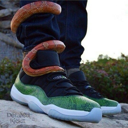 green snakeskin 11 low