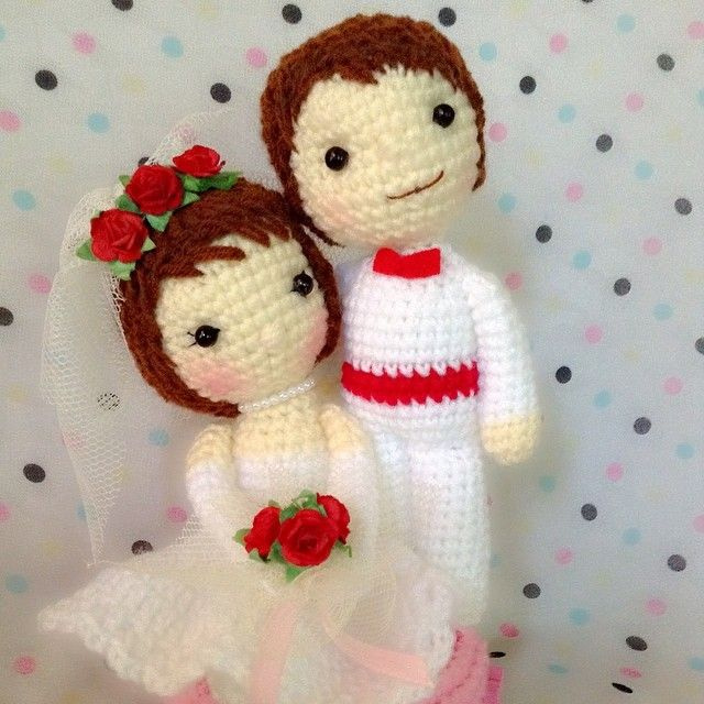 Pin de Olga Kuzmina en Crochet Doll | Pinterest | Novios, Broches y ...