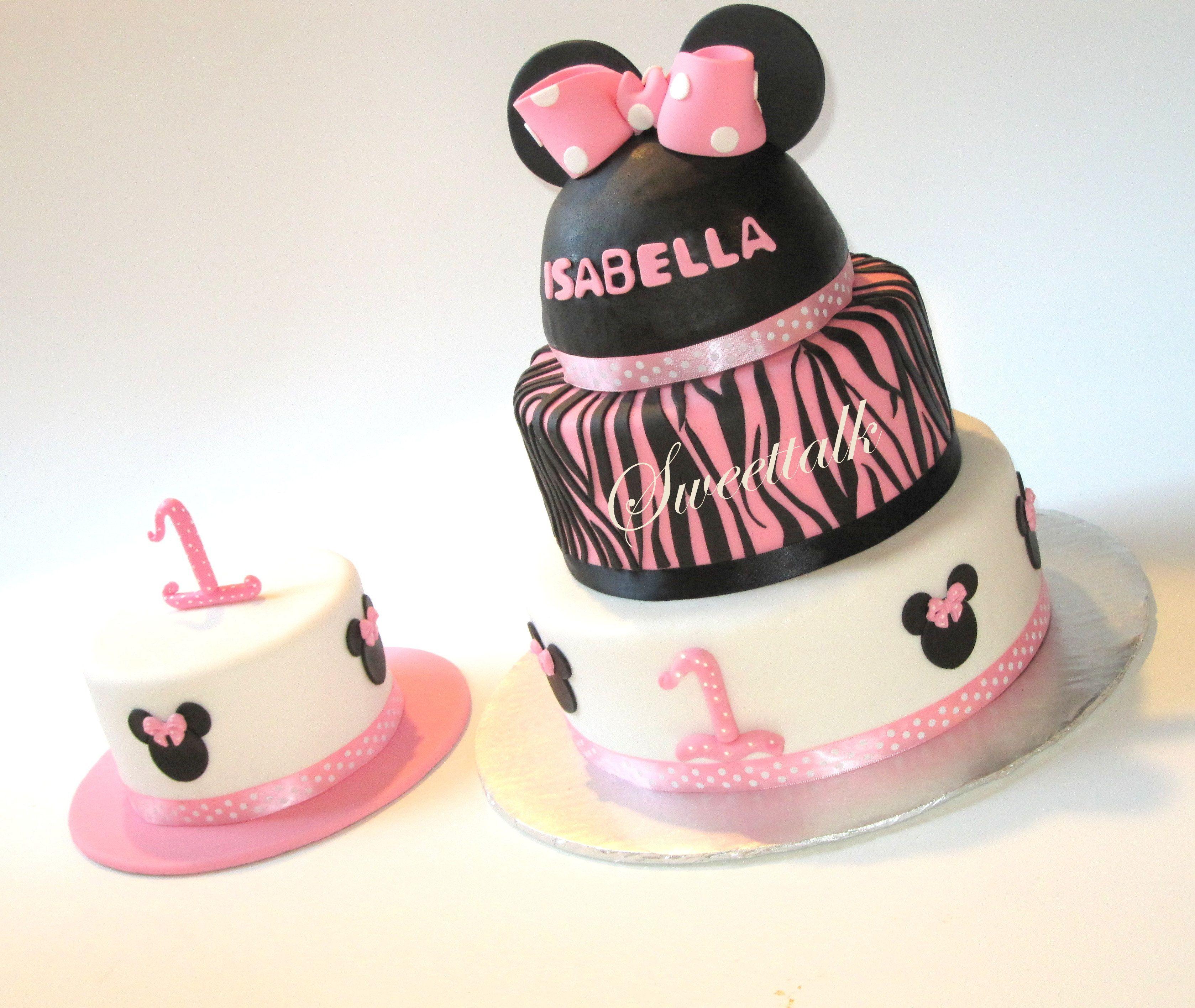 Minnie Mouse cake Minnie Mouse Smash Cake 1st birthday cake