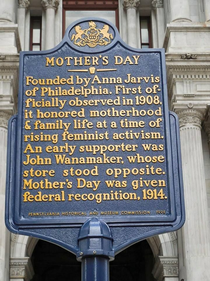 Mother S Day Founded By Anna Jarvis Of Philadelphia First