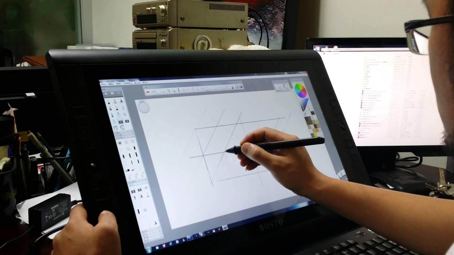 art tablet with screen display A professional graphics