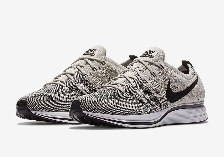 "5b02711cfe7  sneakers  news Official Images of the Nike Flyknit Trainer ""Pale Grey""  Latest"