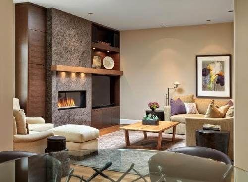 Sala con paredes en color beige ideas para el hogar for Ideas decorativas para salas