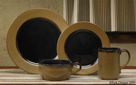 Heavy Molasses Stoneware Dinnerware Country Primitive