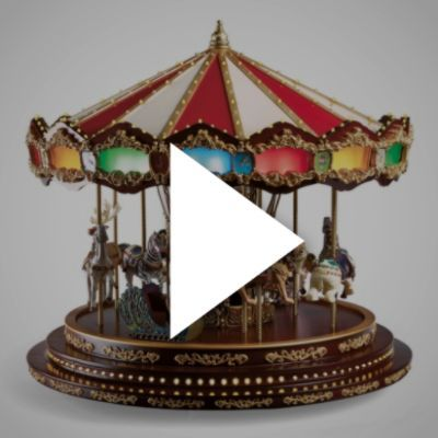 Deluxe Christmas Carousel - Frontgate Christmas! Pinterest - christmas carousel decoration