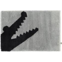 Rhomtuft Badteppich Croc perlgrau/kaviar - 1212 - 60x90 cm RhomtuftRhomtuft #howtomakeabowwithribbon