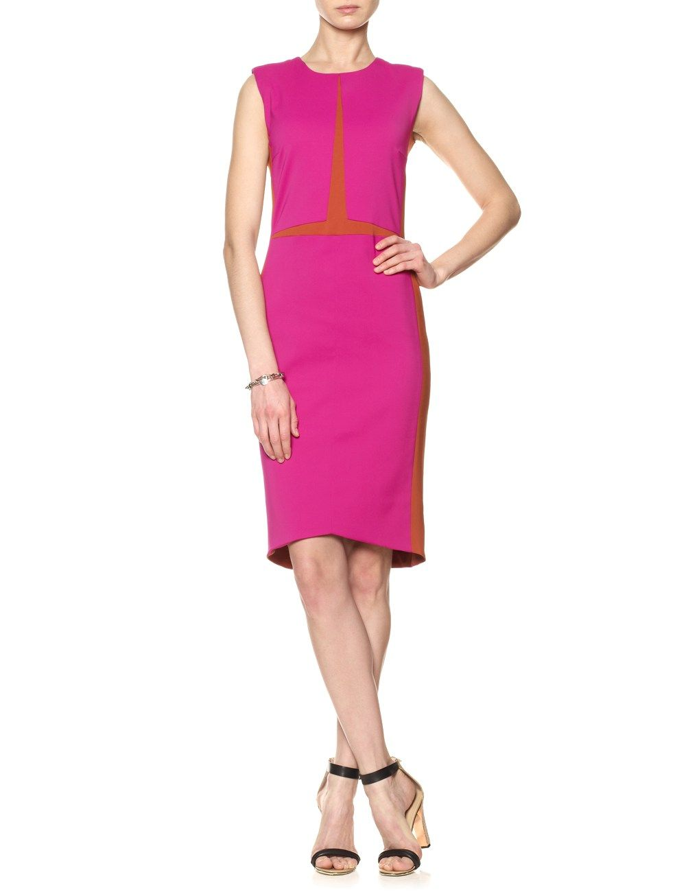 Magenta Two-Tone Pencil Dress | Narciso Rodriguez | Avenue32 | Cool ...