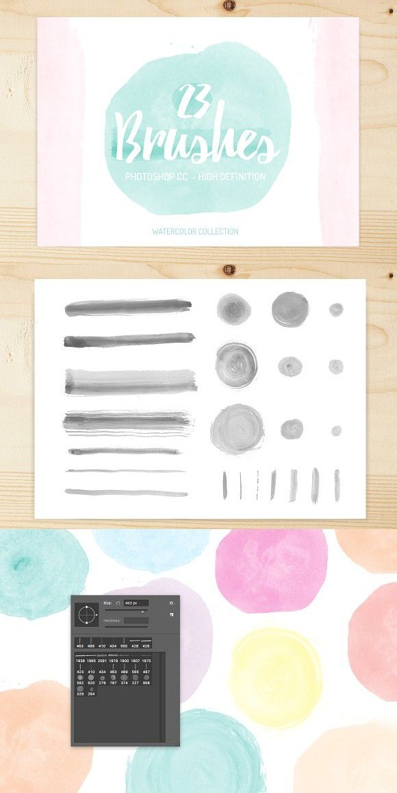23 High quality watercolor brushes. Brushes