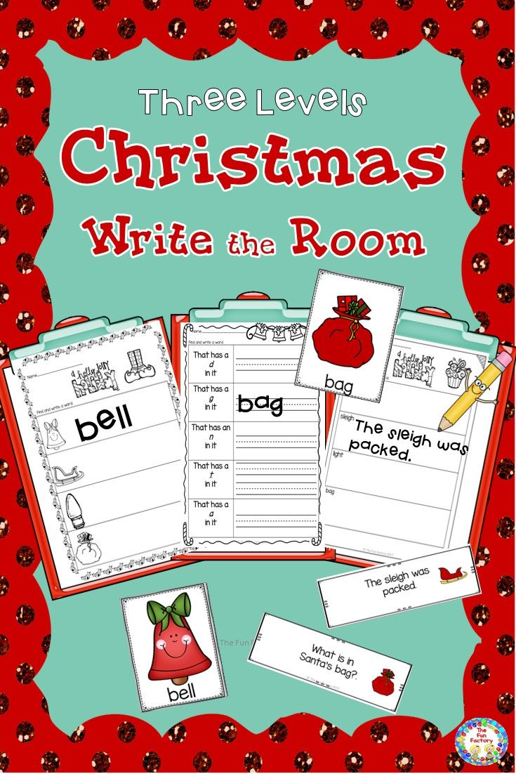 Christmas Write the Room Kindergarten - 2 (Differentiated) | Word ...
