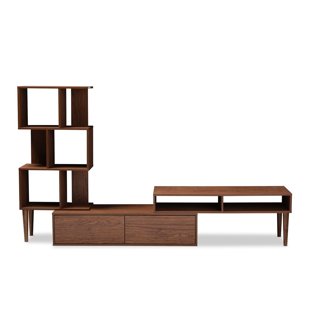 Baxton studio haversham mid century retro modern tv stand for Display home furniture