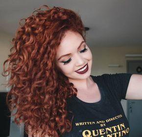 Tonalidades do ruivo acobreado em cabelos cacheado