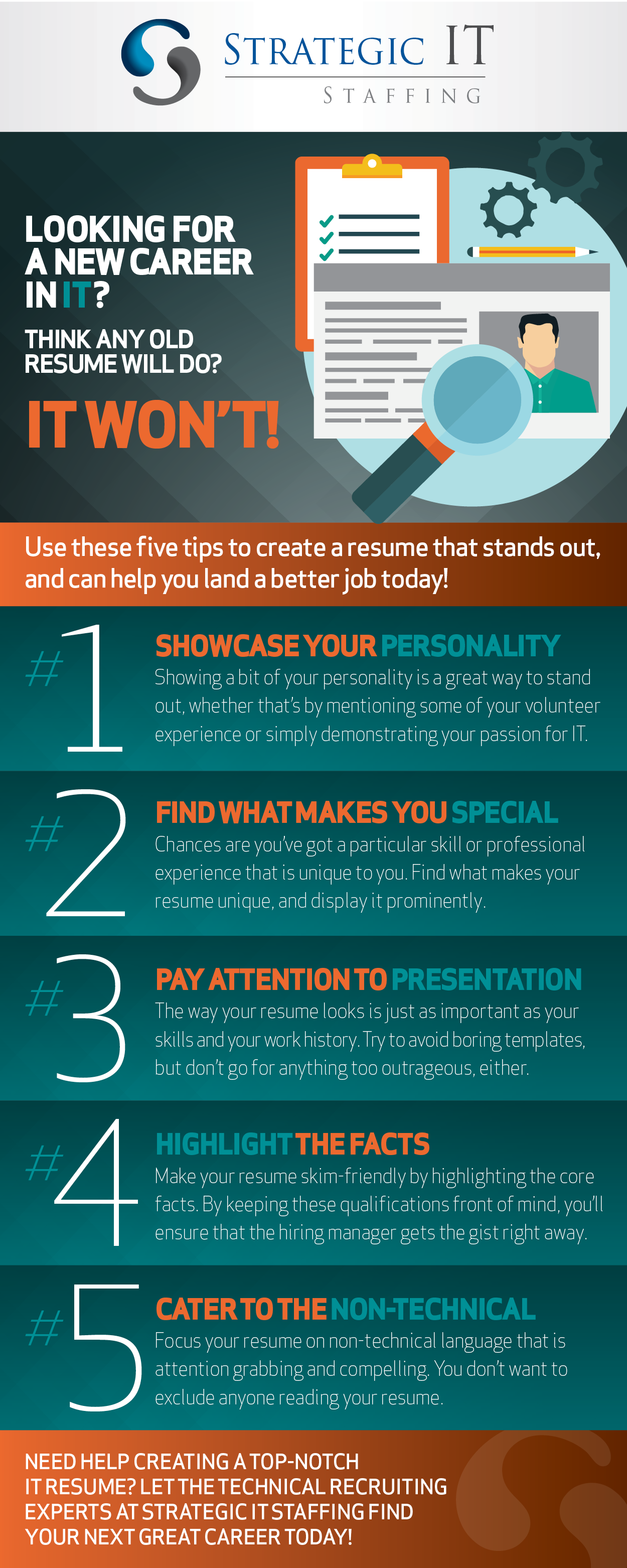 Create an IT Resume That Stands Out! [Infographic] - Strategic IT ...