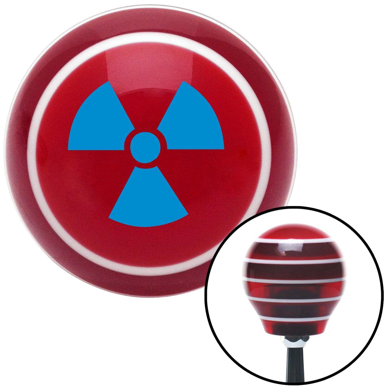 Blue Nuclear Hazard Symbol Red Stripe Shift Knob With M16 X 15