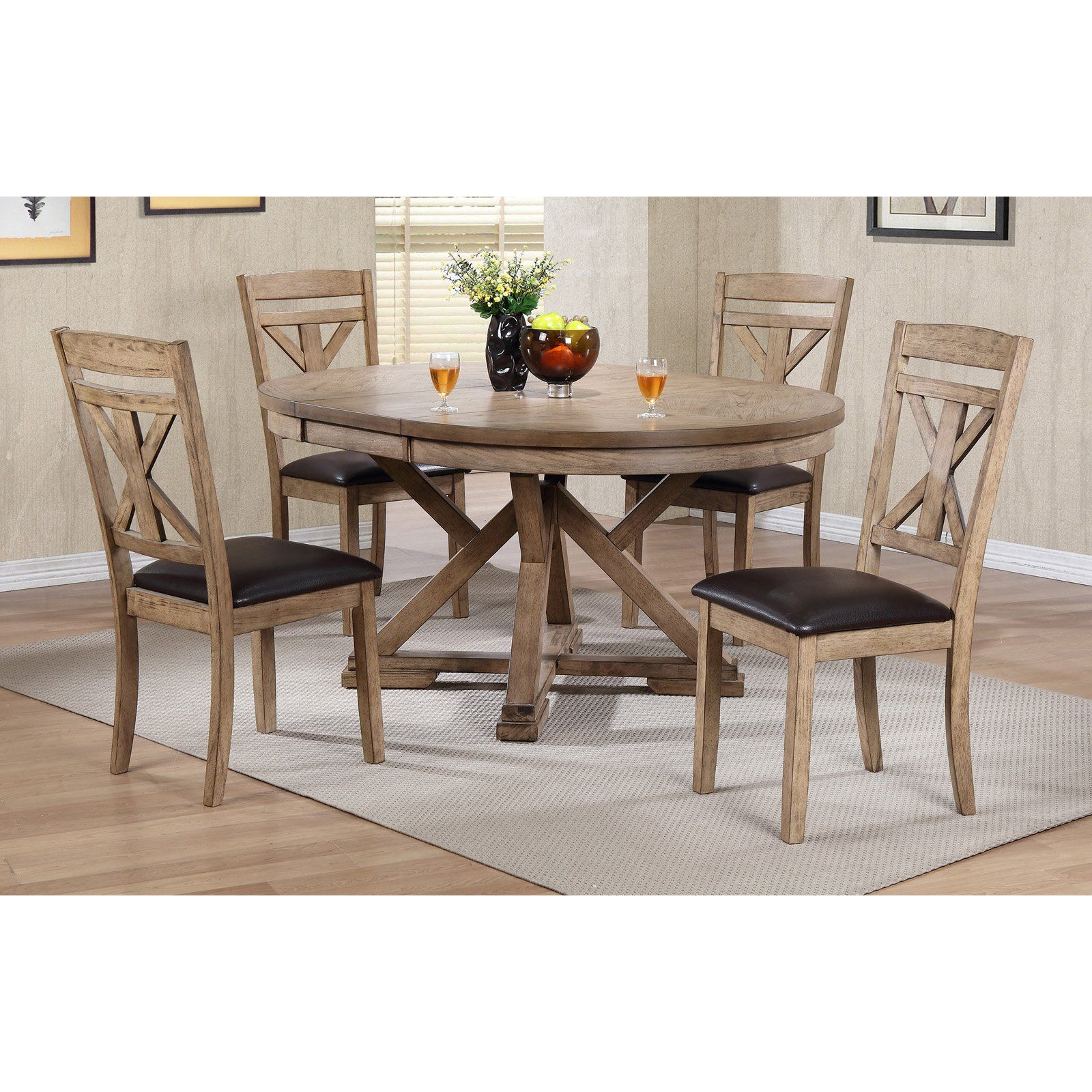 Pedestal Kitchen Table Sets Fascinating Winners Only Round Dining Table With 12 In Butterfly Leaf 6439 6