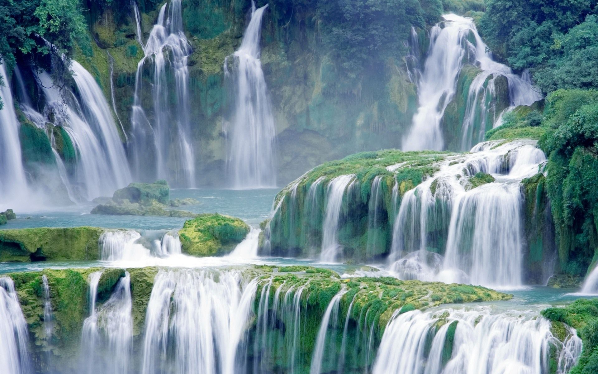 waterfalls desktop wallpaper lake - photo #3