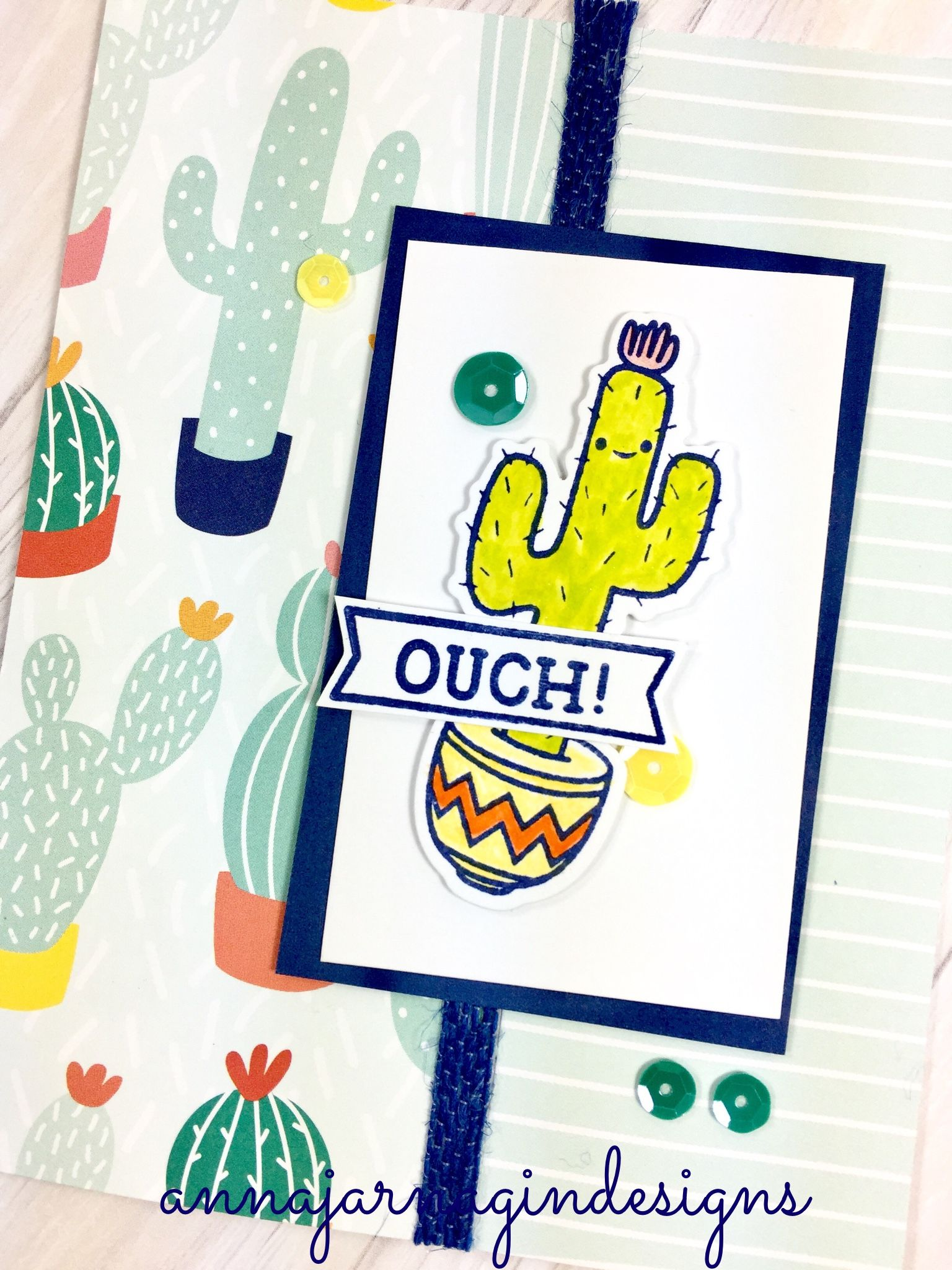 Crafted by Anna Jarnagin. Prickly Pear paper and embellishments by Close to My Heart.