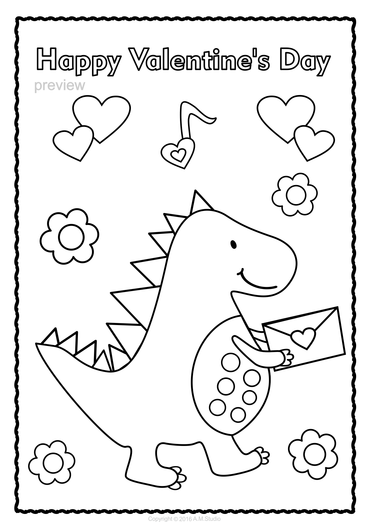 Valentine`s Day Coloring Pages | Valentines day coloring ...