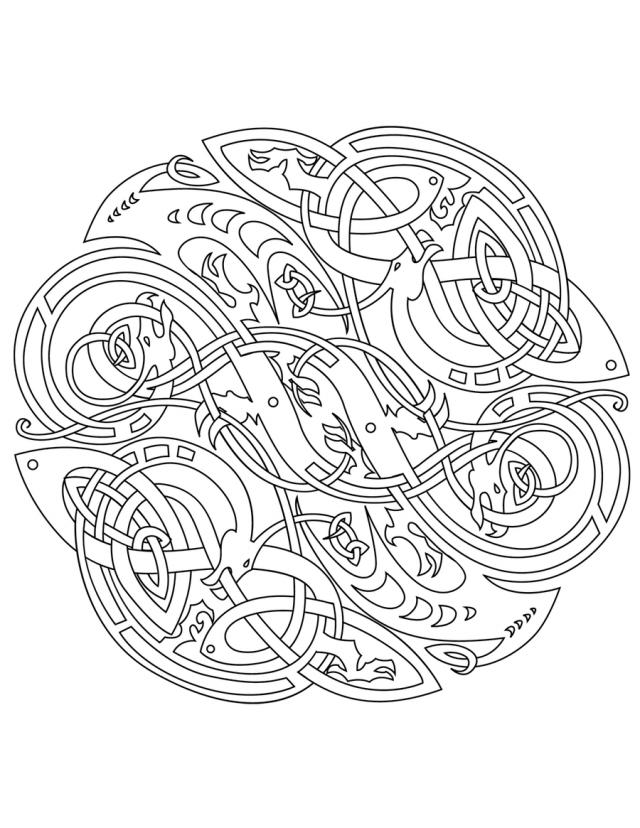 Pin Printable Mandalas Celtic Design Amihaicom Home On Pinterest