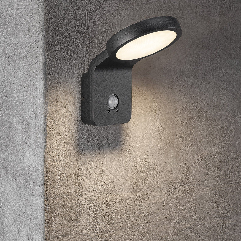 Applique A Detection Exterieure Led Integree 750 Lm Noir Flatline Nordlux Led Lumiere De Lampe Et Detecteur De Mouvement