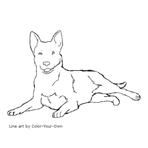 blue dog coloring pages - photo#36