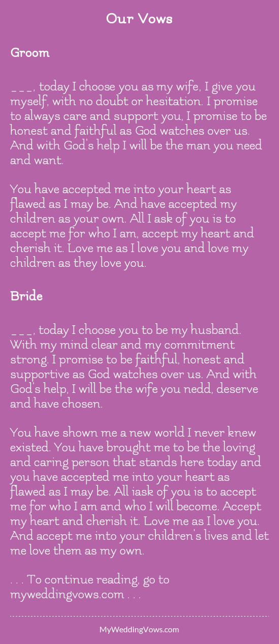 Our Vows Wedding Vows To Husband Funny Wedding Vows Wedding Vows