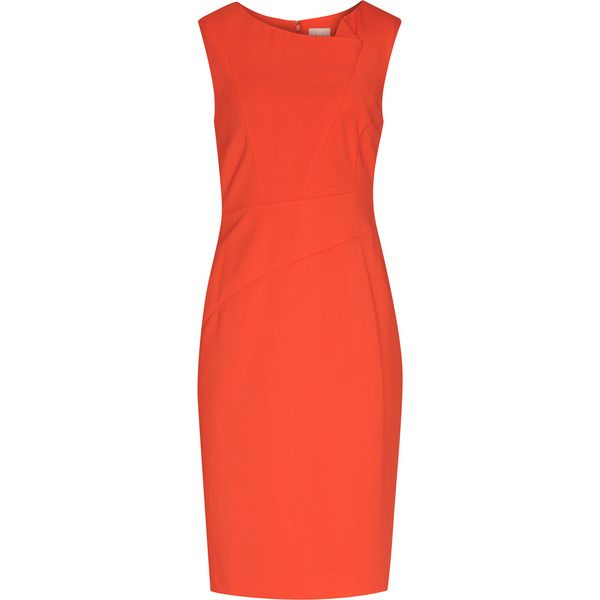 Sunny MANDARIN TAILORED DRESS ($310) ❤ liked on Polyvore featuring dresses, red dress, tailored dresses and mandarin dress