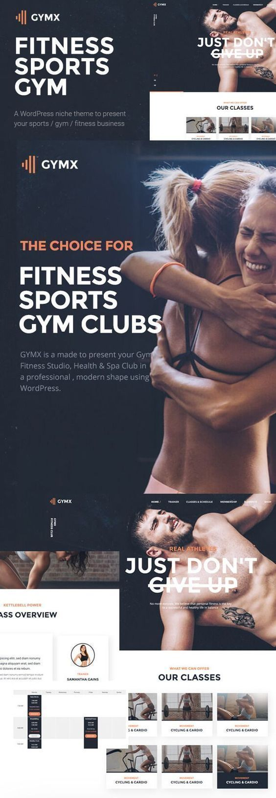Gym X - Fitness, Gym & Sports WordPress Theme. A modern fitness website template which is ideal for...