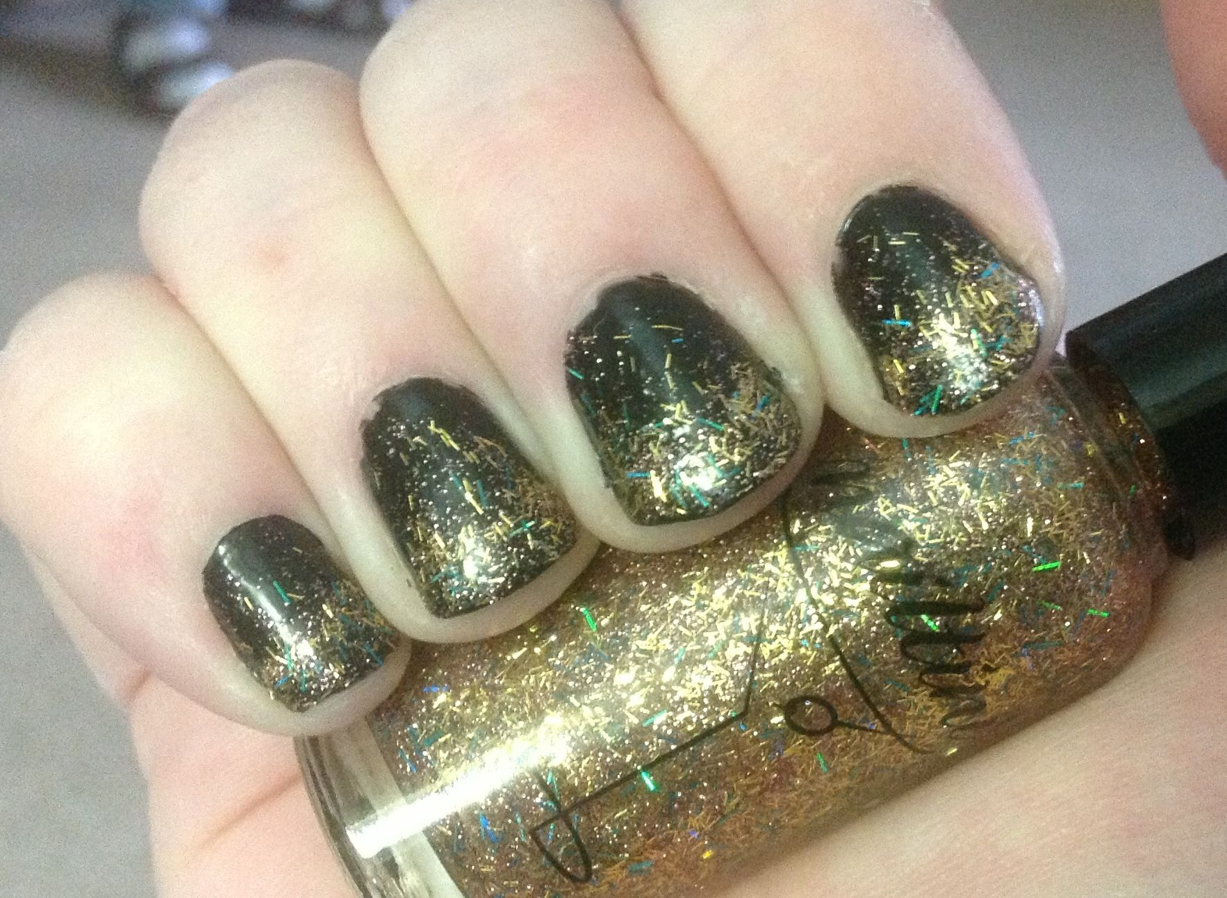 Another look at my New Years nails with Nailtini nail polish in ...